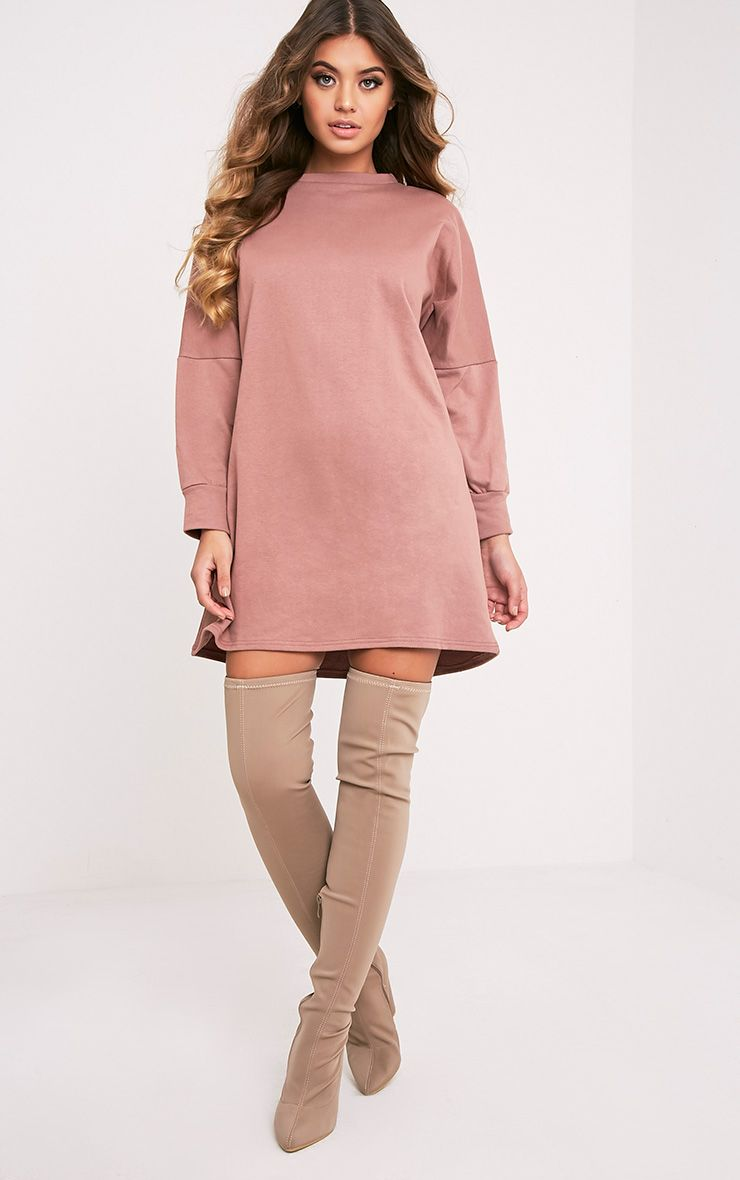 Laine Dark Mauve Oversized Sweater Dress