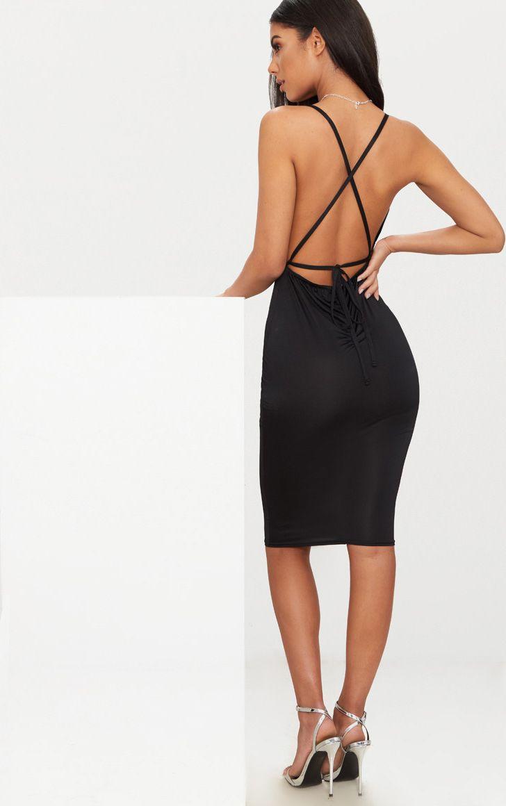 Detailed Long Dress Brown