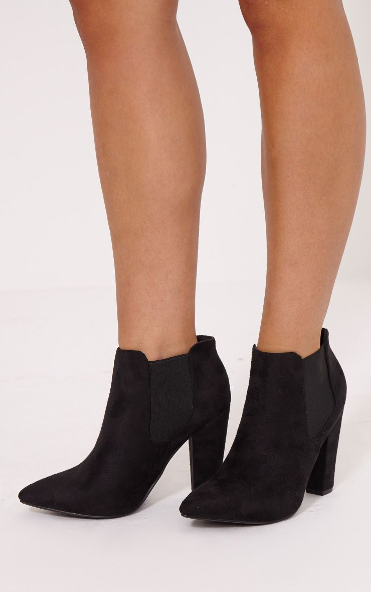 Black Chunky Chelsea Ankle boot Pretty Little Thing iDXig4L