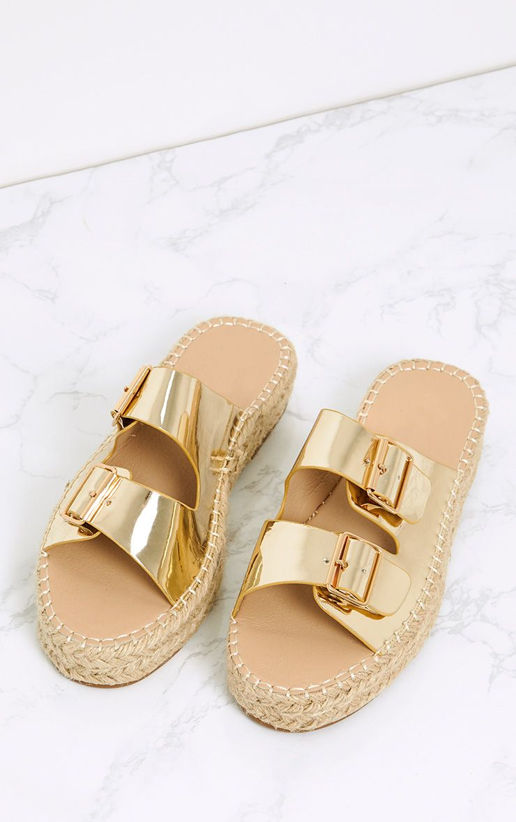 Madge Gold Metallic Espadrille Sandals