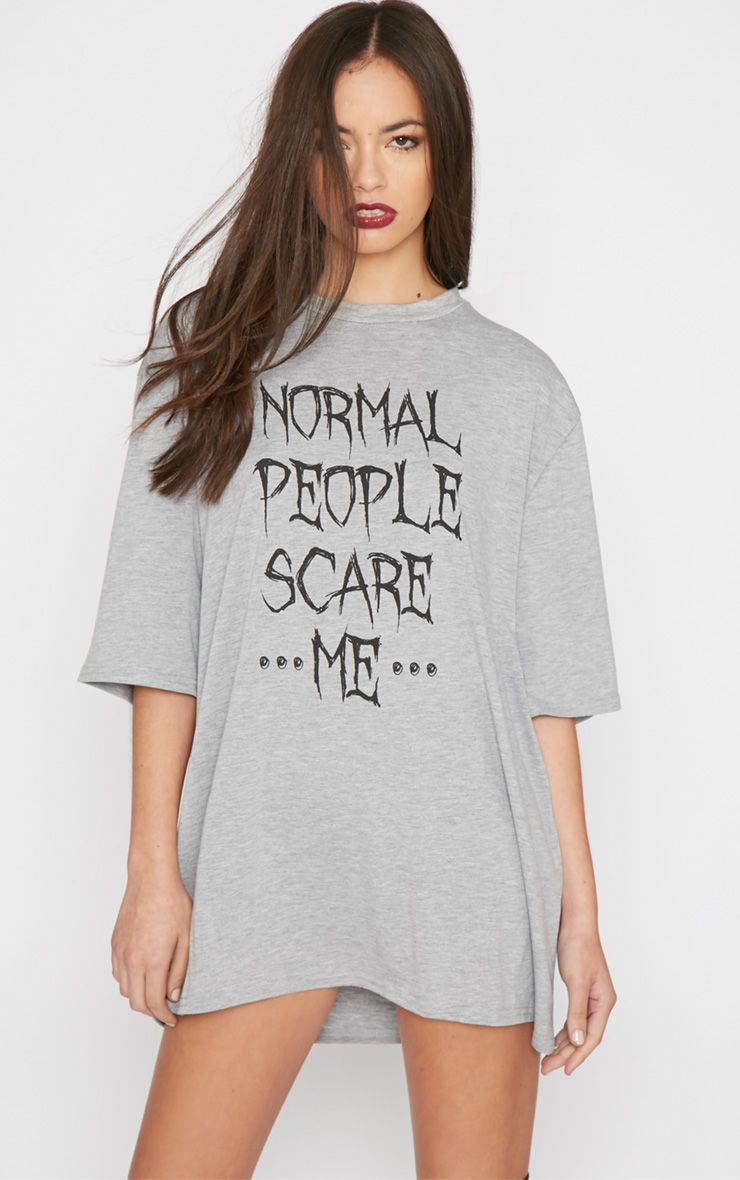 Malady Grey Normal People Scare Me Tee 1
