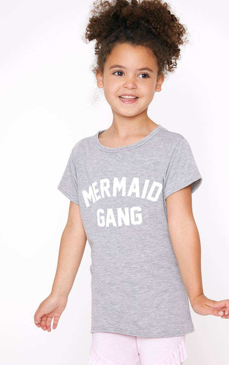 Mermaid Gang Grey Marl T Shirt