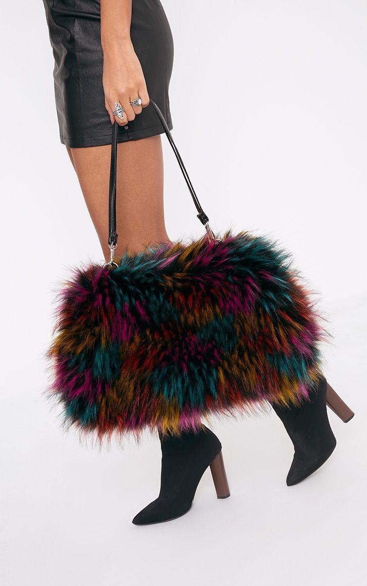 Jena Multi Fur Shoulder Bag