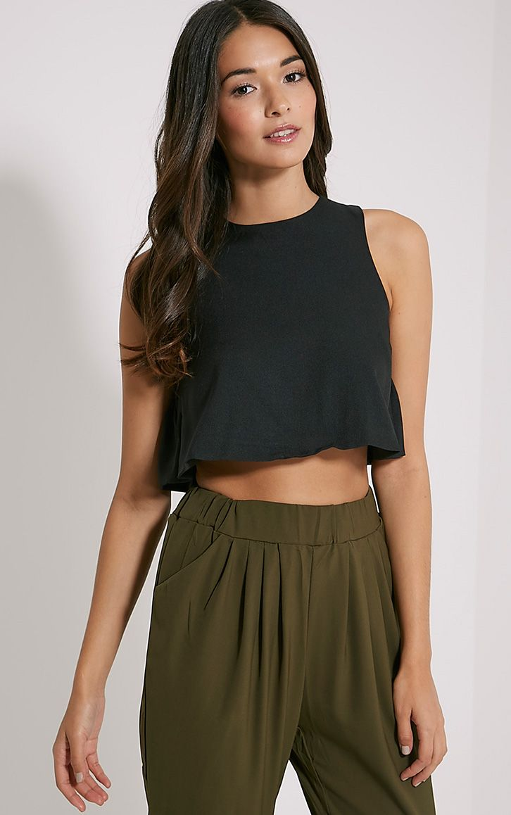 Anouk Black Frill Detail Top 1