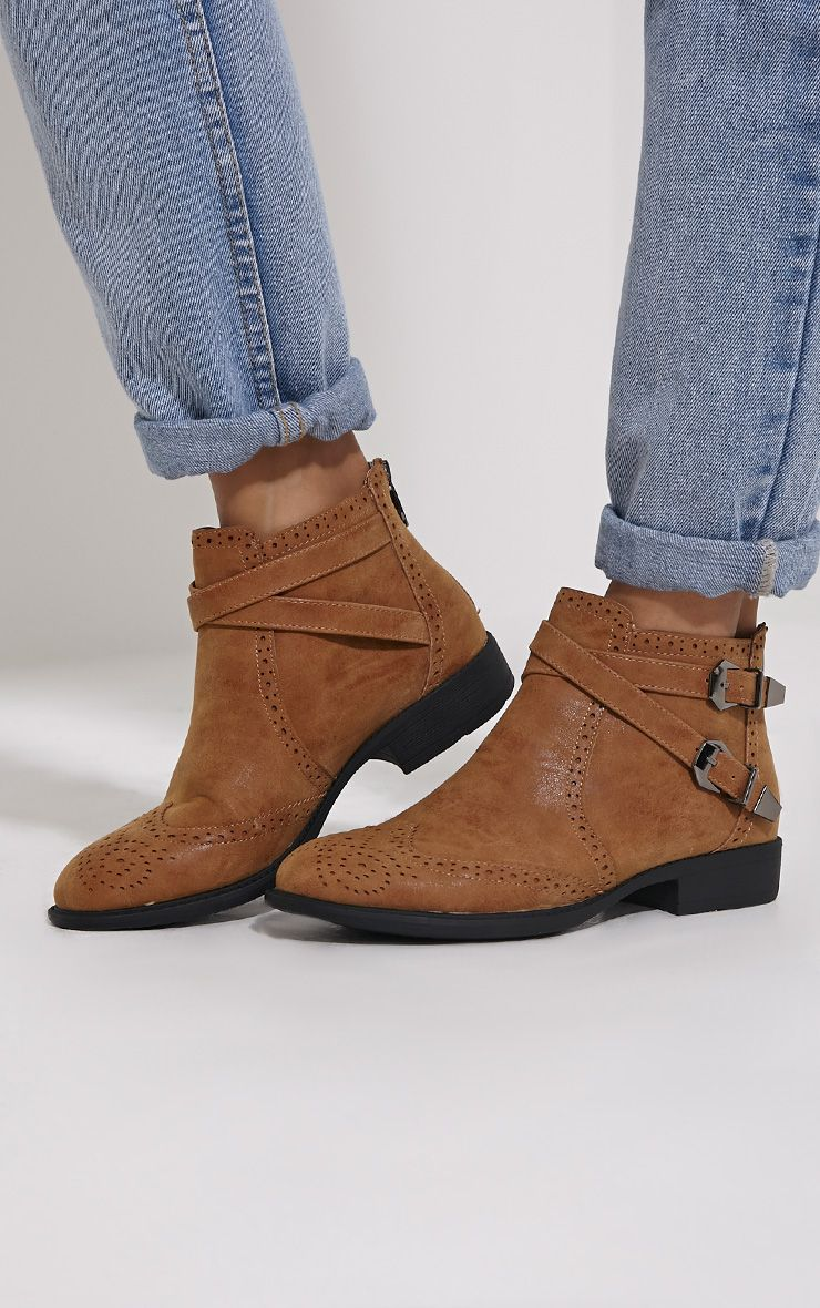 Phia Tan Ankle Buckle Detail Chelsea Boots 1