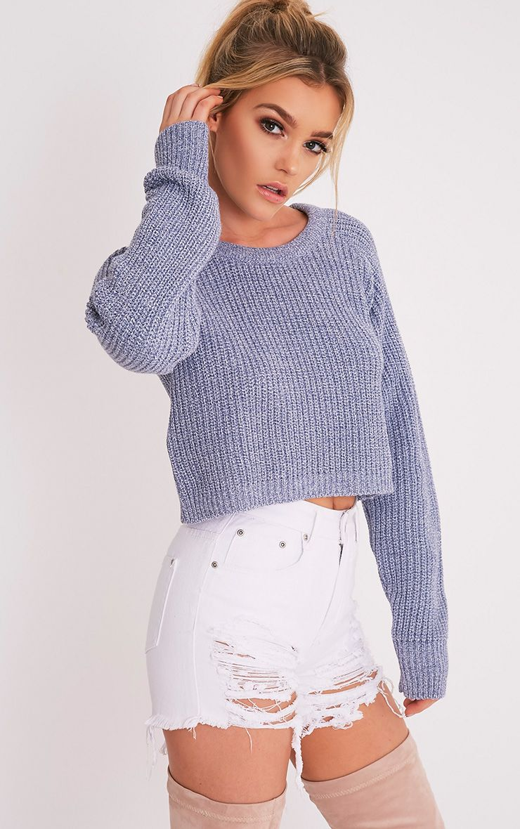 Knitting Pattern Cropped Jumper : Jumpers Womens Knitted Jumpers PrettyLittleThing