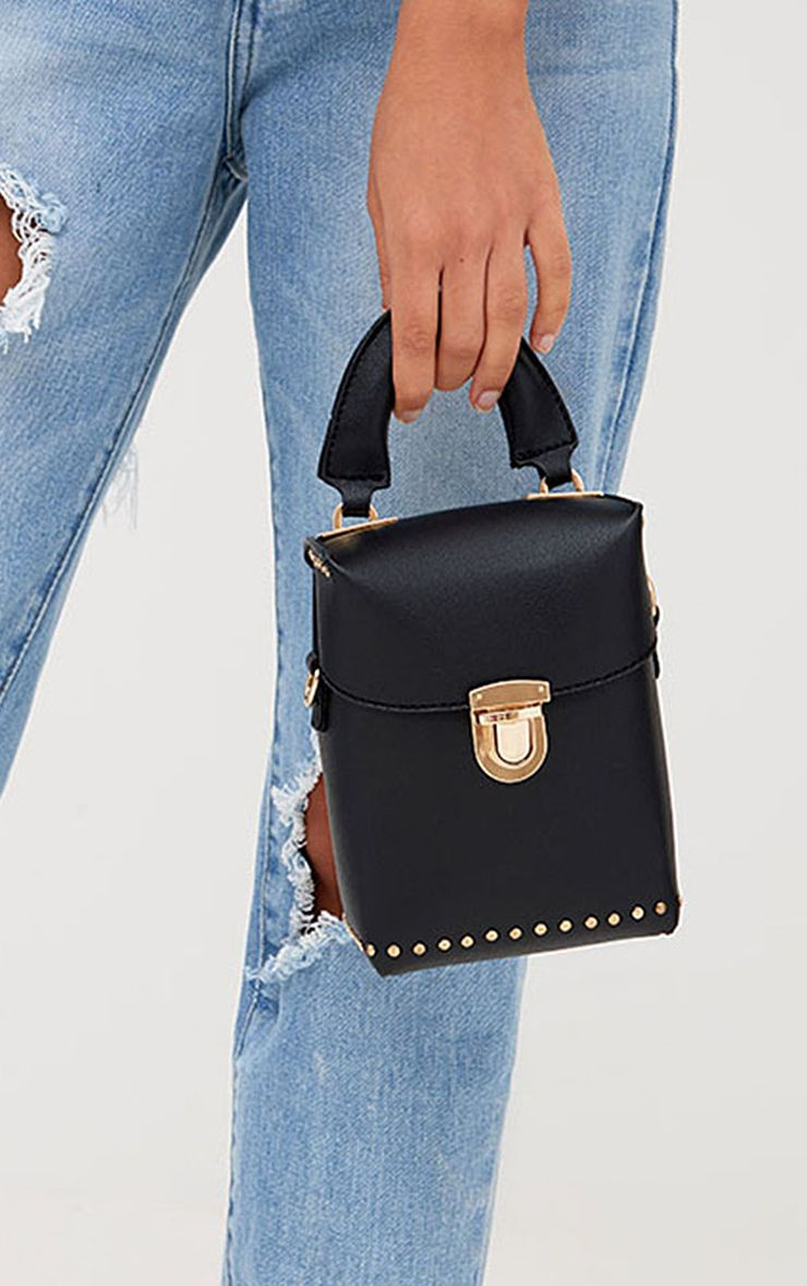 Black Mini Handled Handbag
