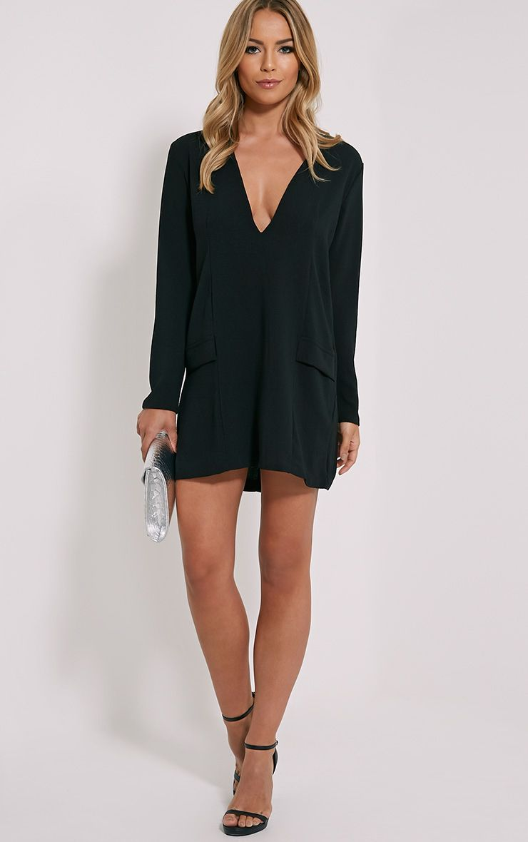 Jemima Black Loose Fit Blazer Dress