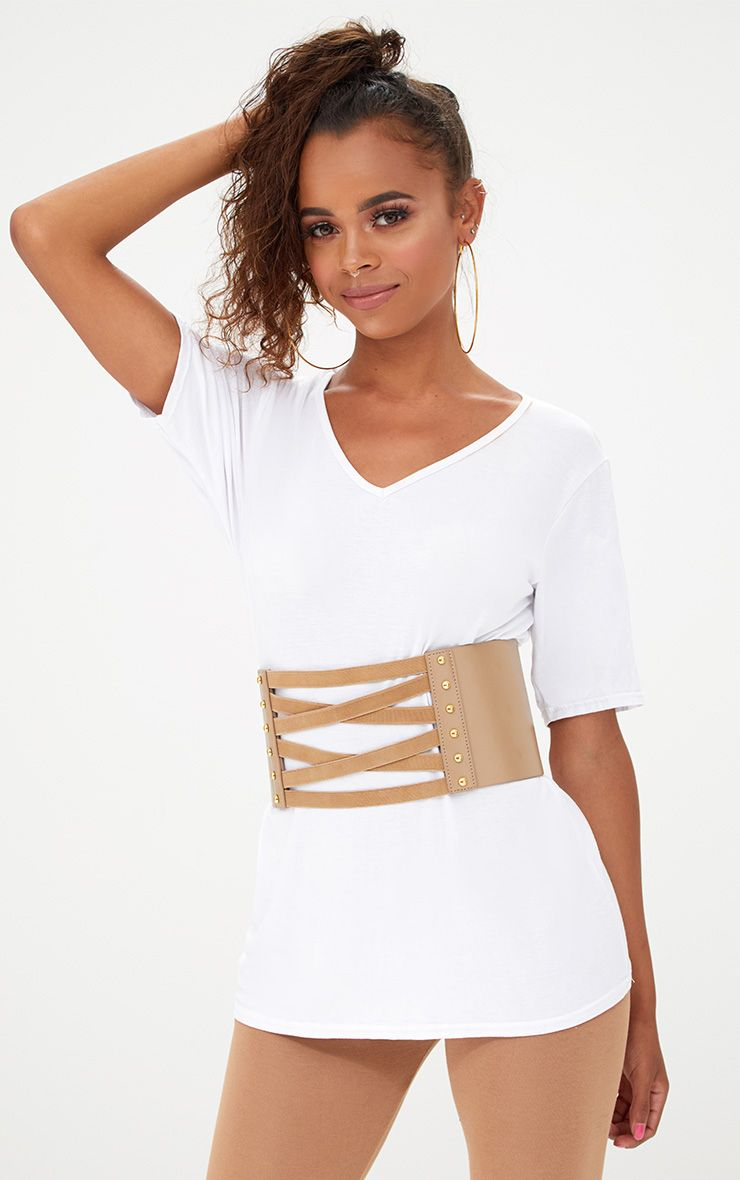 Brown Bandage Corset Belt