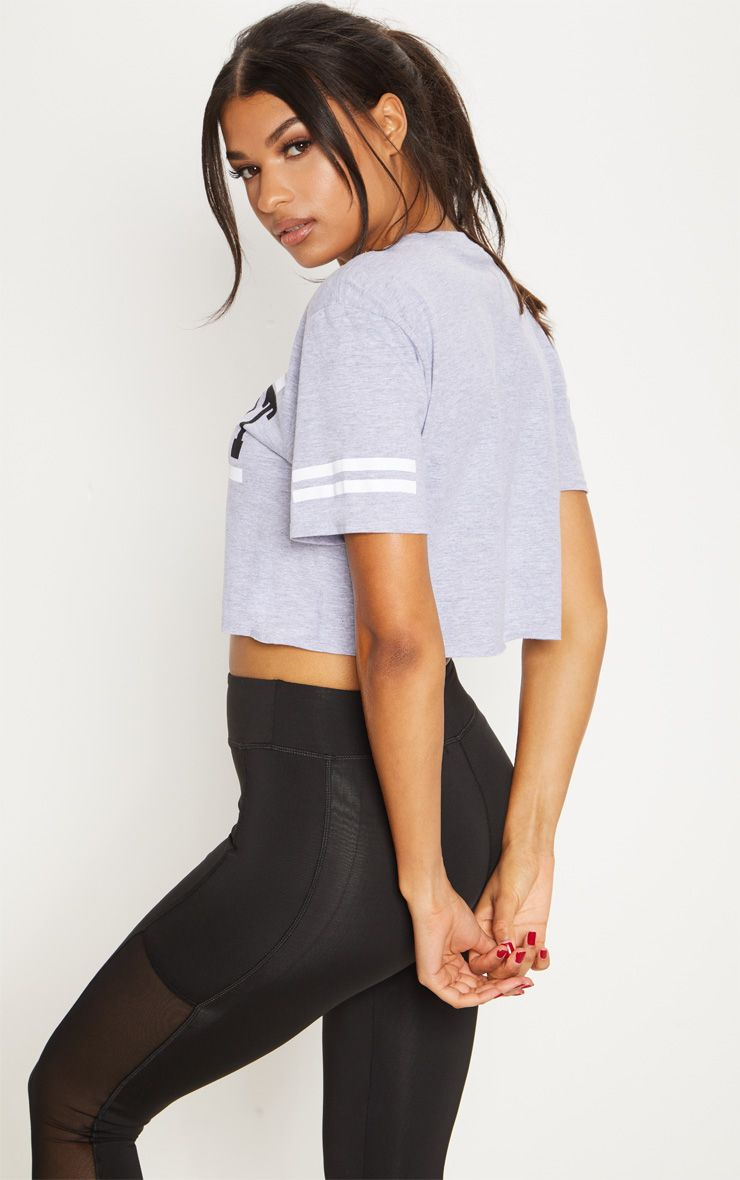 Discount Free Shipping PRETTYLITTLETHING Marl Killing It Active Crop T Shirt Buy Cheap Many Kinds Of Outlet Factory Outlet Clearance Outlet Store 71BUzm
