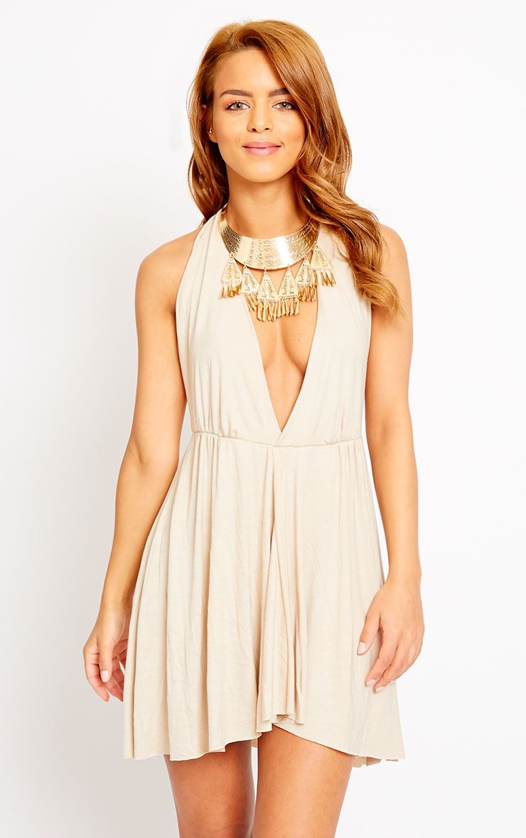 Aria Stone Plunge Jersey Dress 1