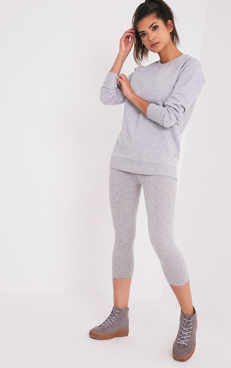 Lucina Light Grey Crew Neck Longsleeve Sweatshirt 1