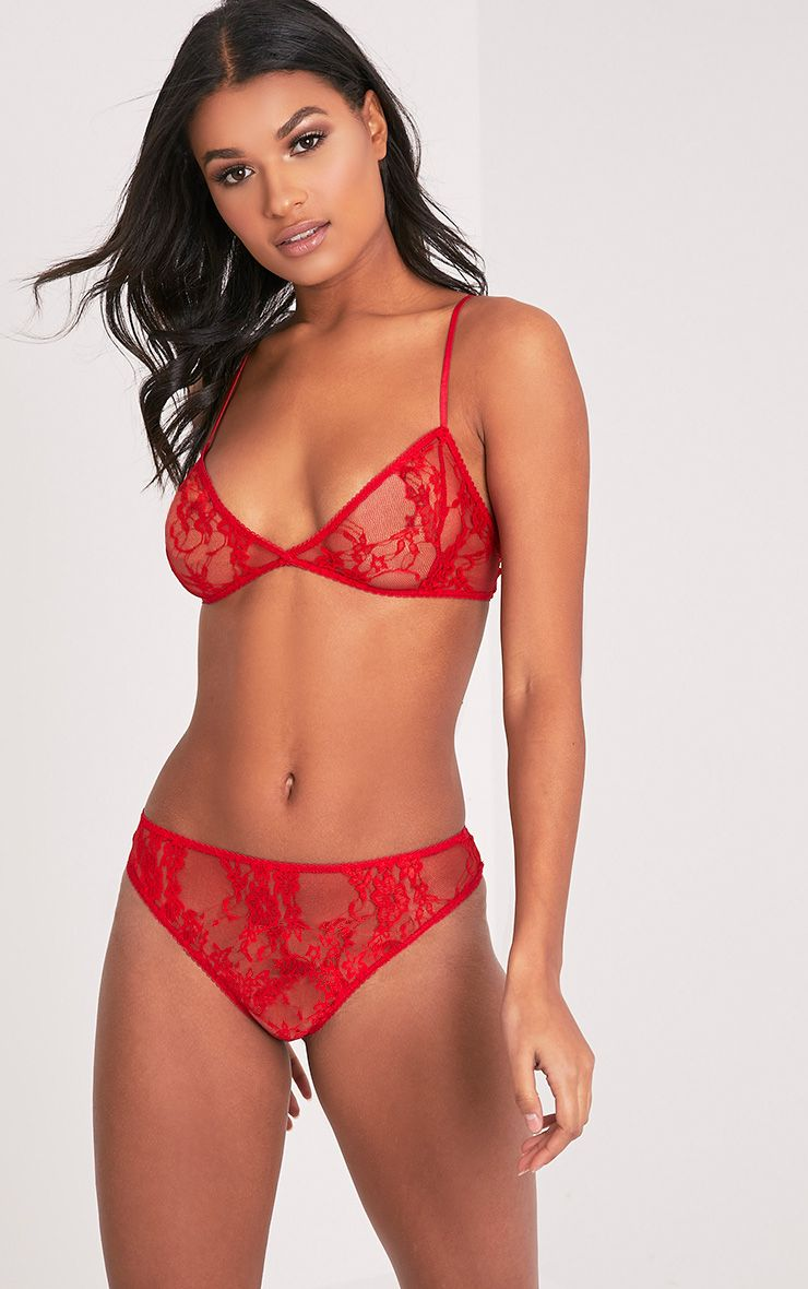 Kadia Red Lace Thong