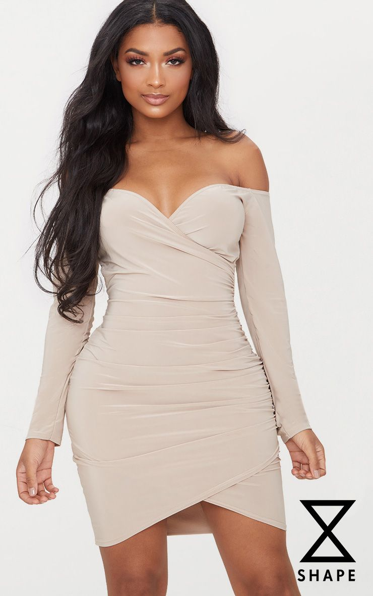 Shape Nude Mesh Insert Bodycon Dress Pretty Little Thing Outlet Websites mw0sbgERaG