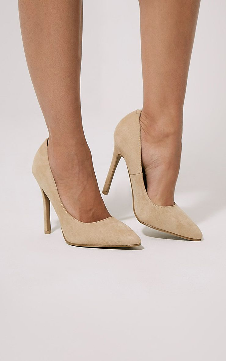 Magna Cream Suede Court Shoes 1
