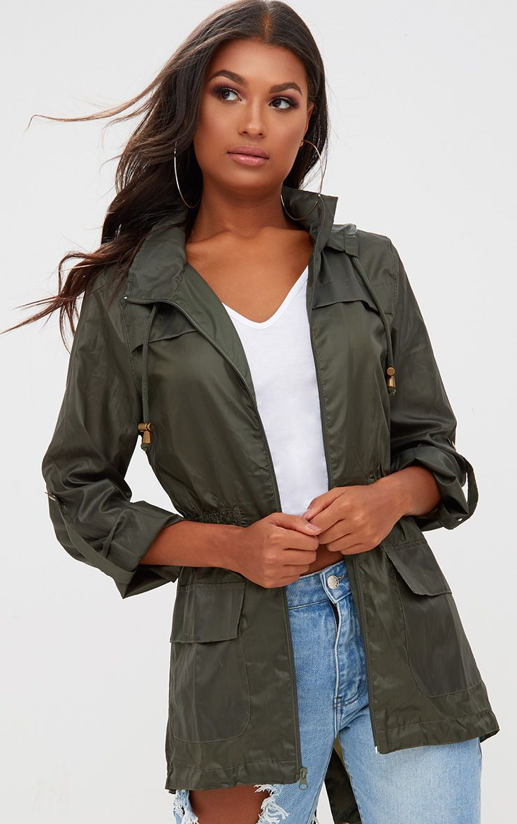 Khaki Waterproof Raincoat
