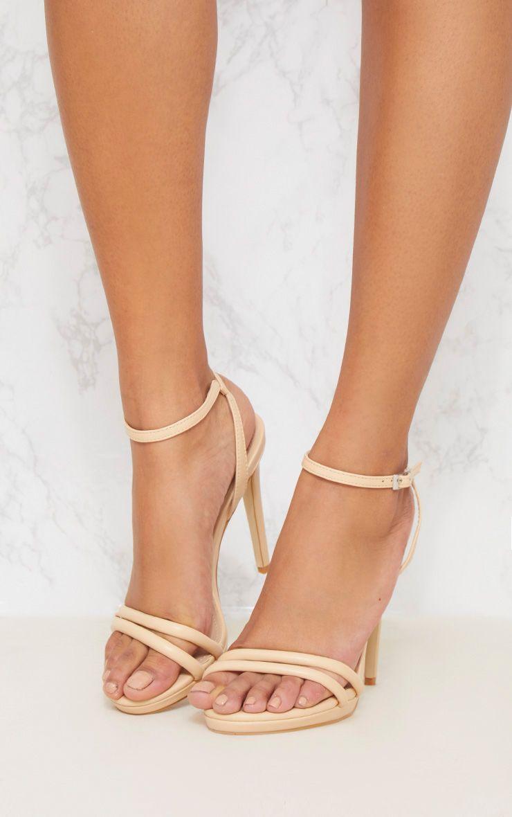 Nude Double Strap Platform Sandal