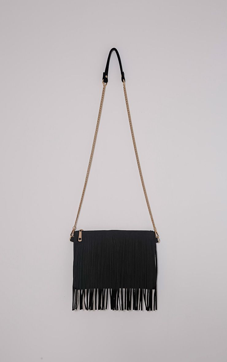 Dany Black Fringe Bag