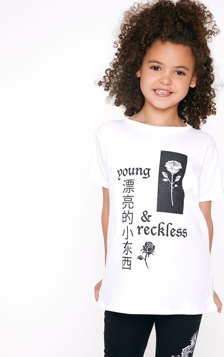Young And Reckless White T Shirt