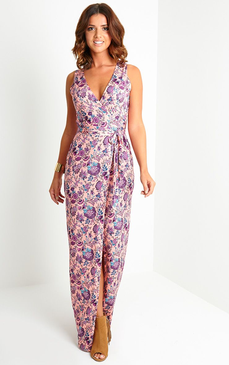 Lennie Print Wrap Maxi Dress 1
