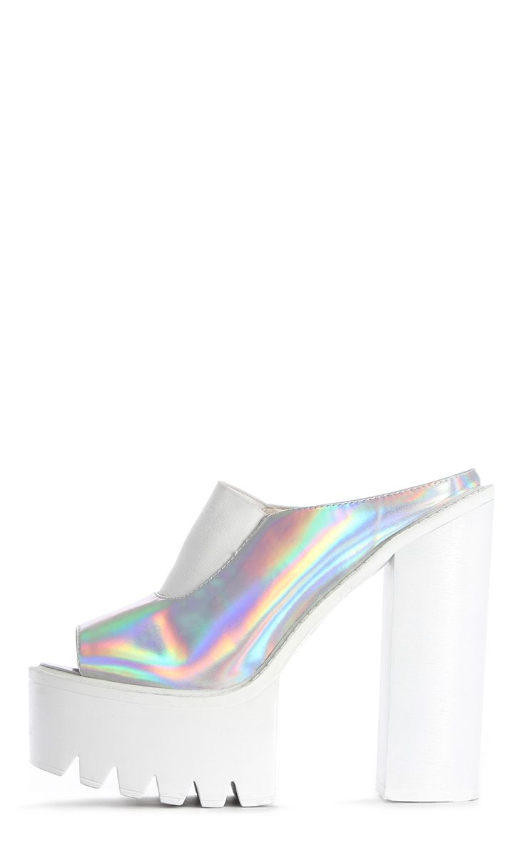 Yamelia Holographic Open Toe Mule Sandals 1