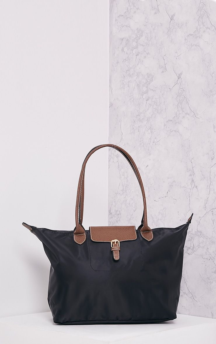 Synab Black Lightweight Oversized Shopper Bag