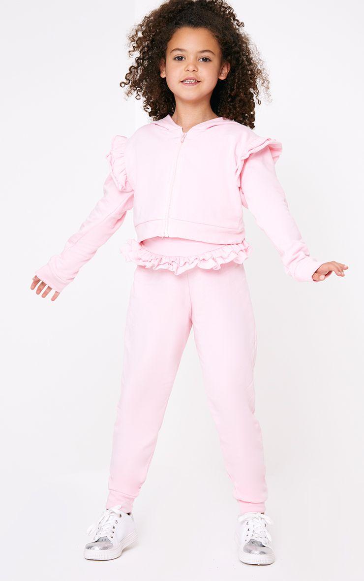 Frill Waist Pink Joggers