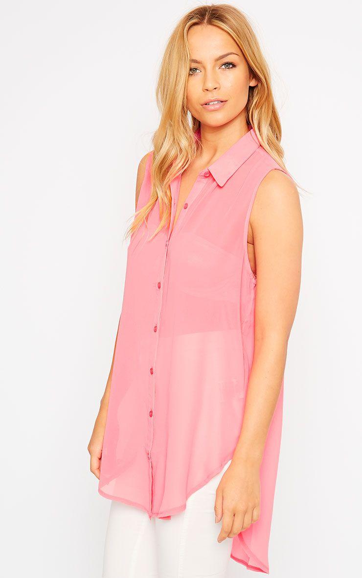 Kaley Pink Sheer Shirt 1