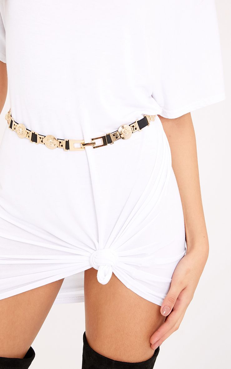 Lani Black Medusa Detail Waist Belt