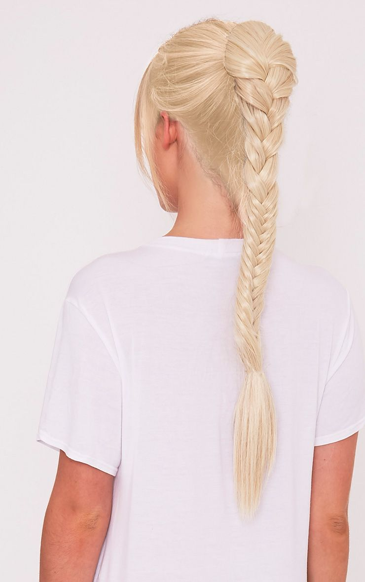 Light Blonde Fishtail Plait Extension