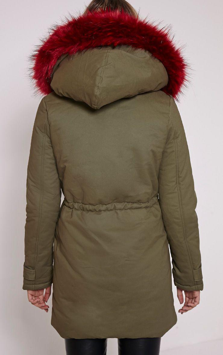 Fur lined premium parka coat