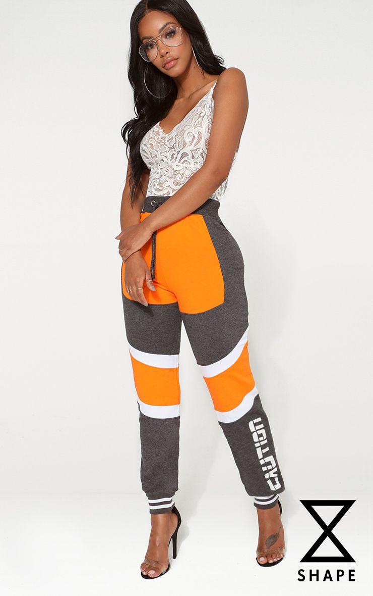 Shape Orange Caution Contrast Joggers 1