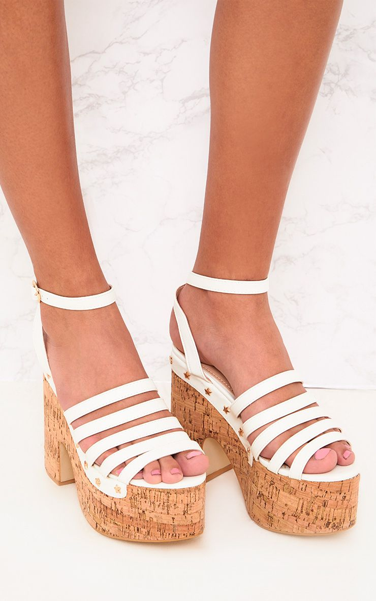 White Chunky Platform Sandals