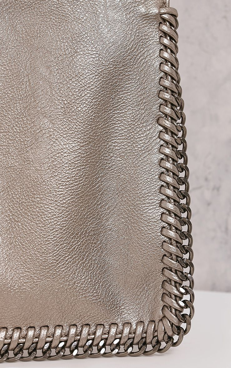 Wilfrie Pewter Oversized Chain Detail Bag   4
