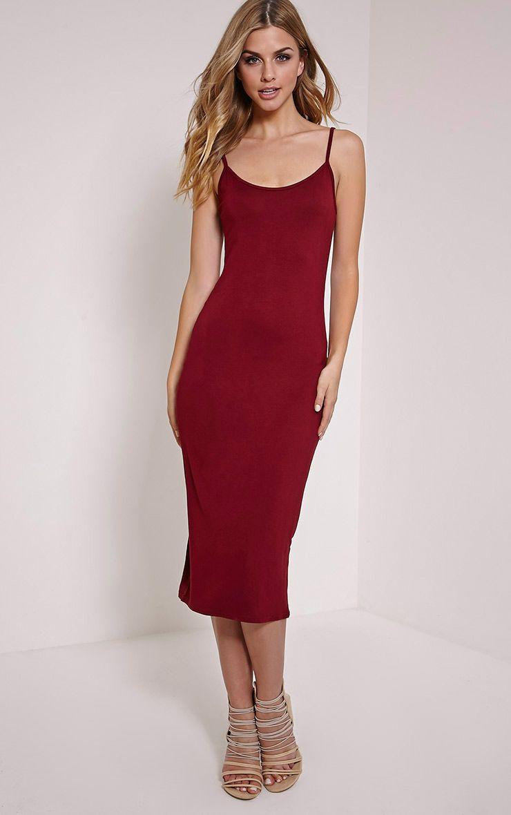 Basic Berry Midi Vest Dress 1