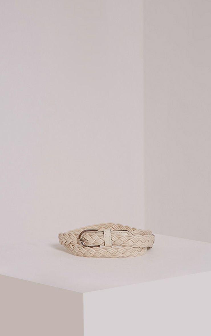 Lenora Cream Woven Belt 1