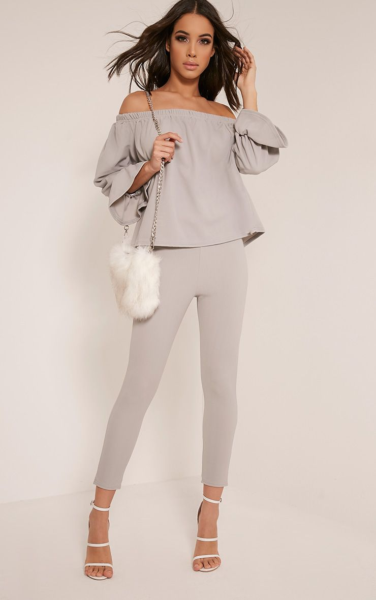 Evalyn Grey Cropped Trousers