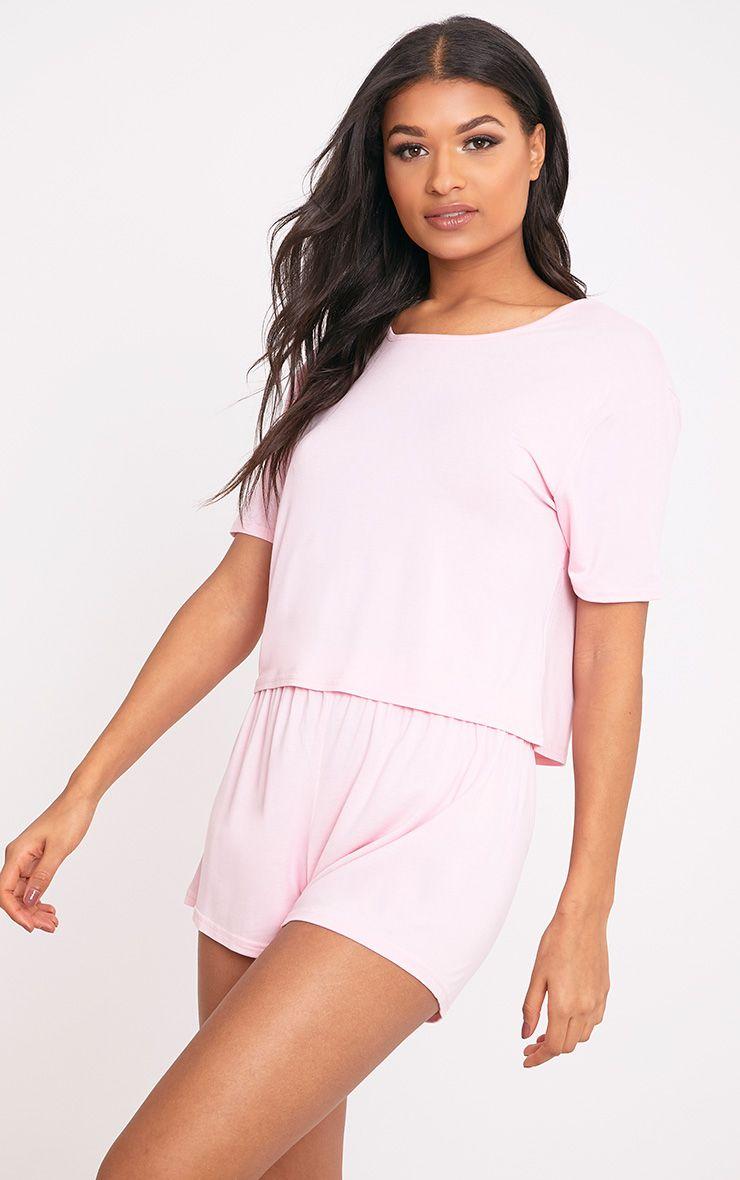 Basic Pale Pink Short Pj Set