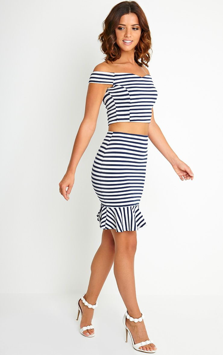 Willow Stripe Peplum Skirt 1