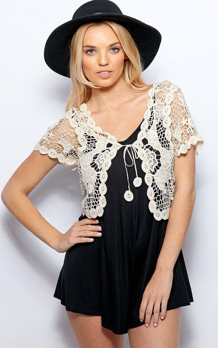 Isabella Crochet Cropped Waistcoat 1