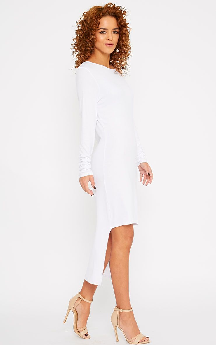 Basic White Drop Hem Dress 1