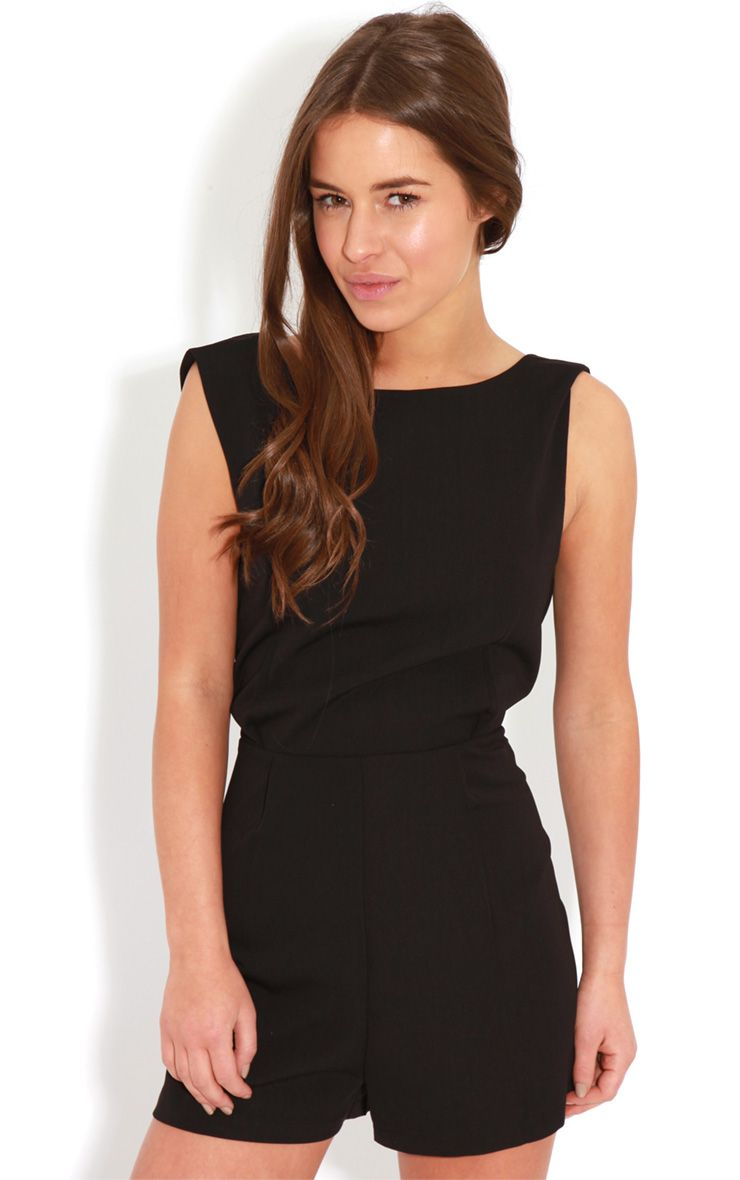 Diana Black Cross Over Playsuit 1