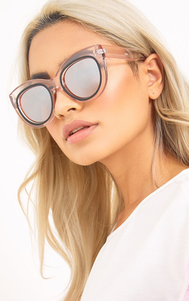 Senta Pink Acrylic Cat Eye Sunglasses
