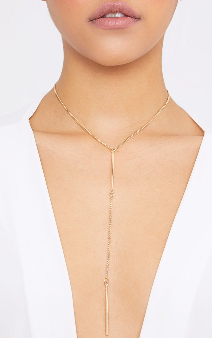 Ephy Gold Plunge Choker
