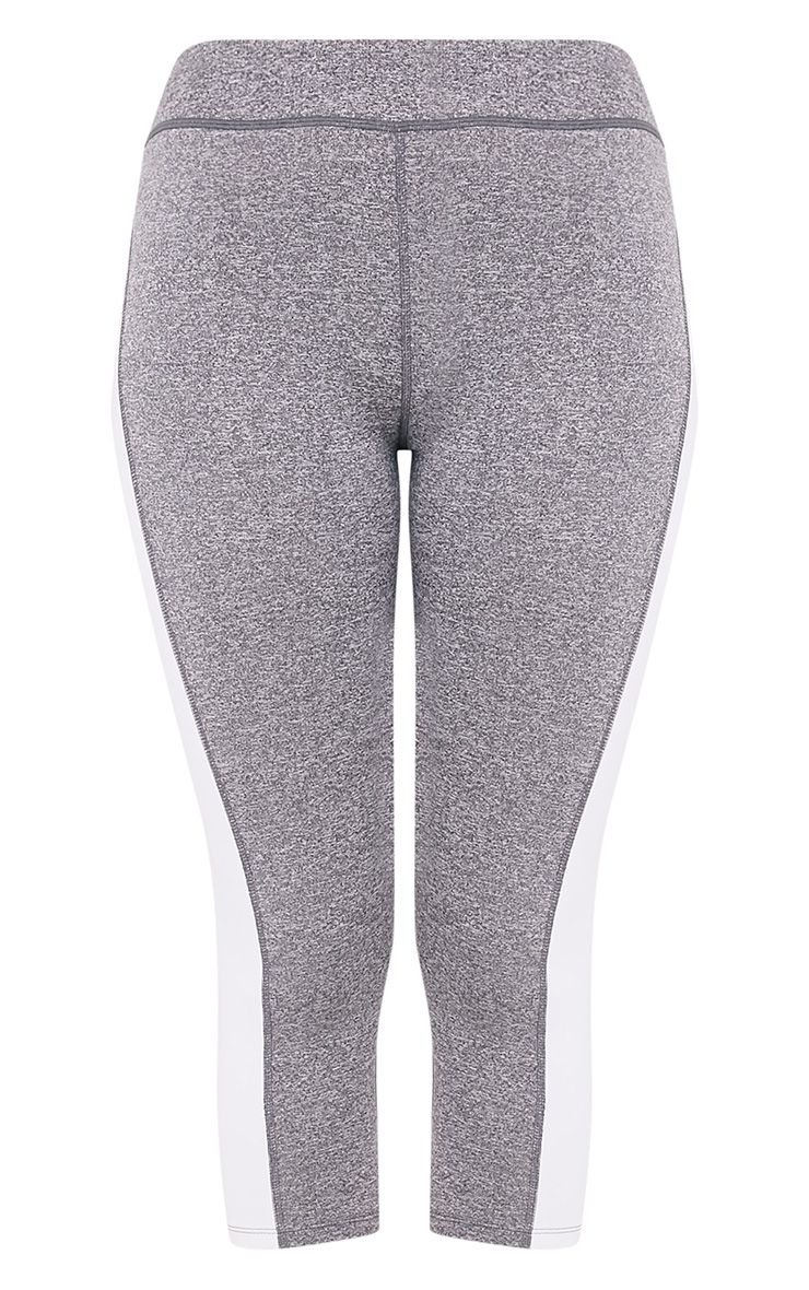 Fion White Panelled Cropped Gym Leggings 3