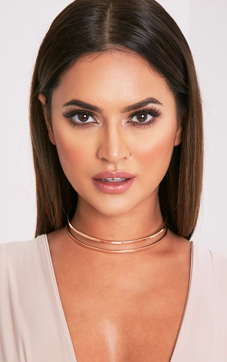 Kandia Rose Gold Cut Out Metal Choker