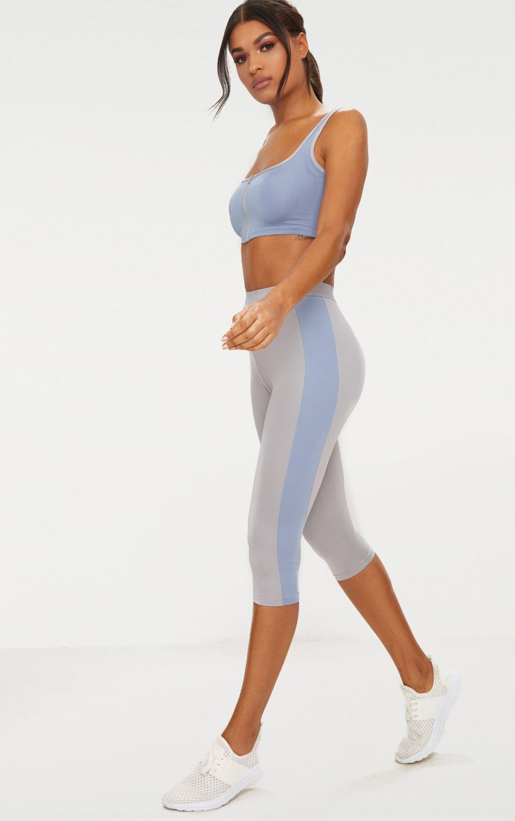Grey 3/4 Sports Leggings