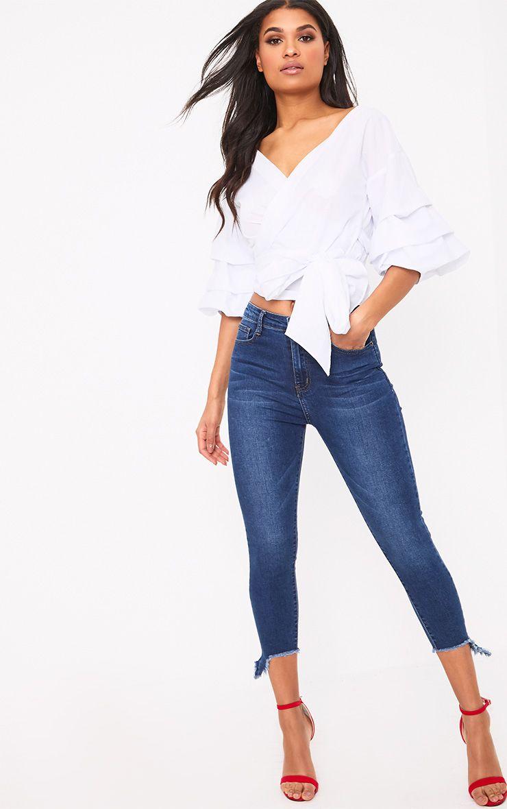 Dark Wash Extreme Crop Skinny Jean