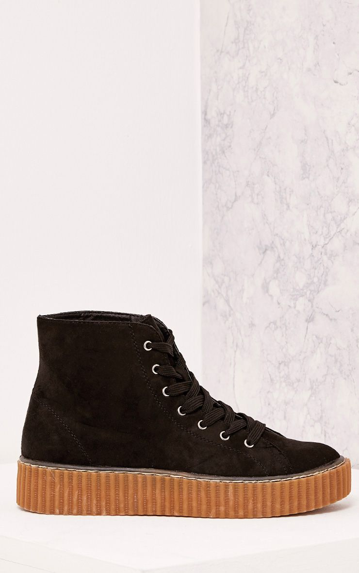 Roxana Black High Top Creeper Trainers