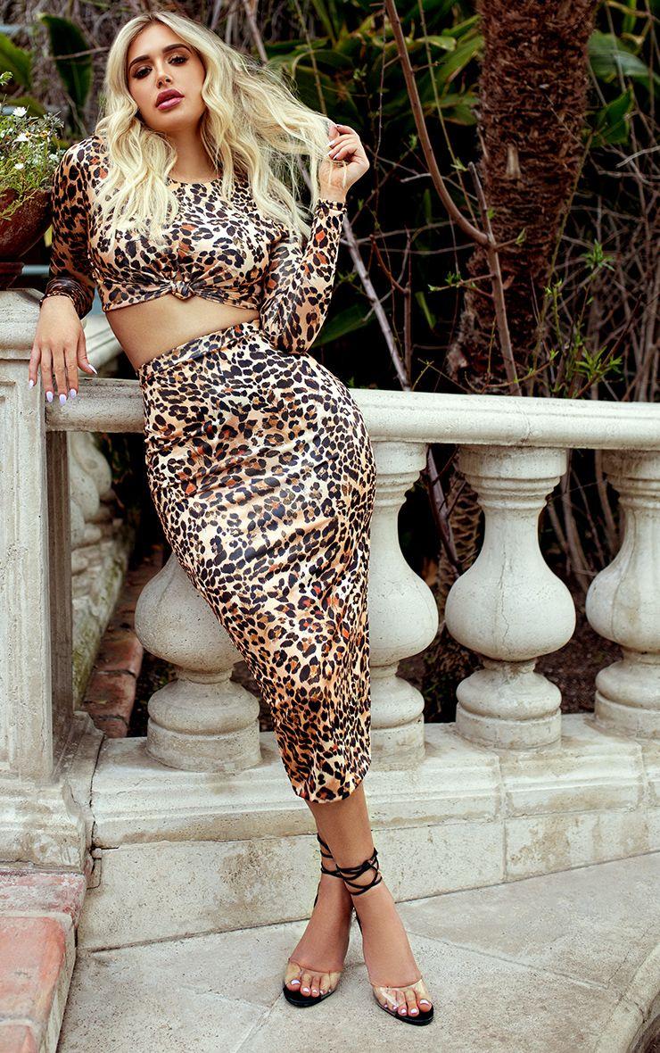 Francisca Shape ensemble assorti jupe imprimé léopard
